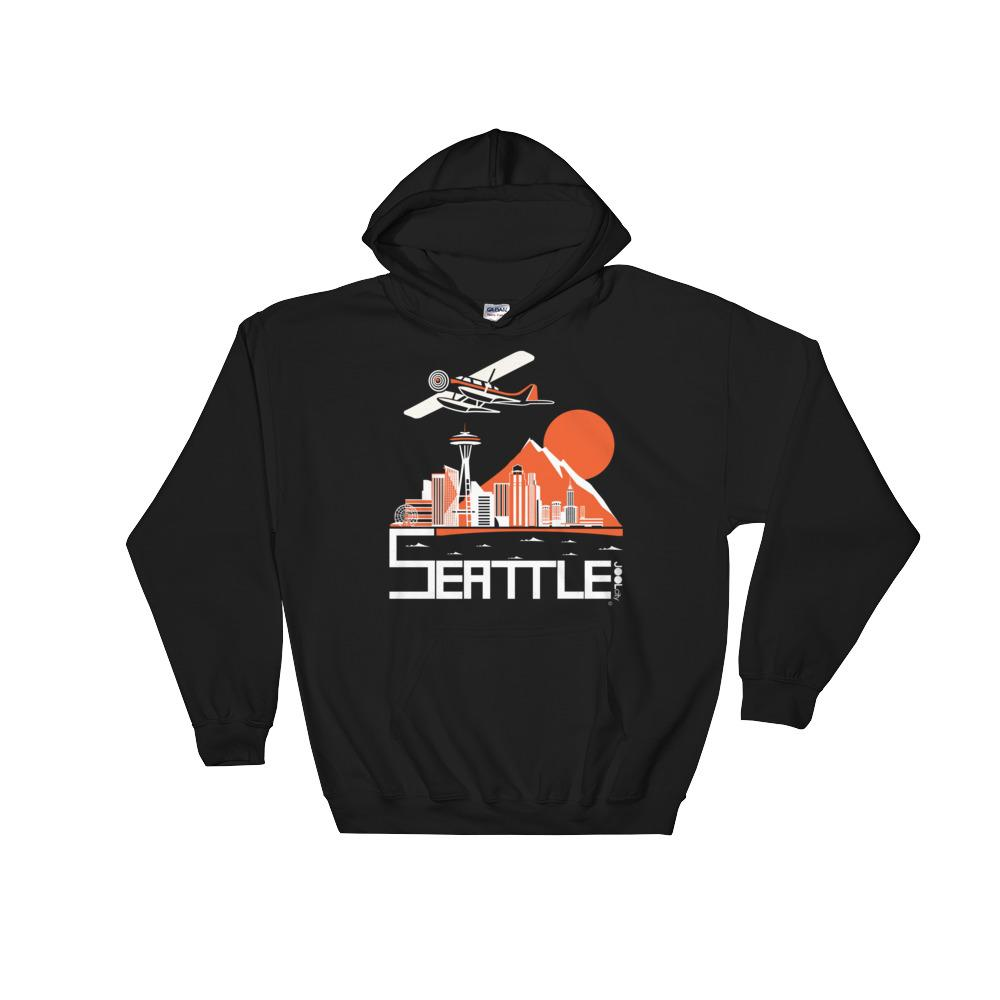 Seattle Soaring Seaplane Unisex Hooded Sweatshirt