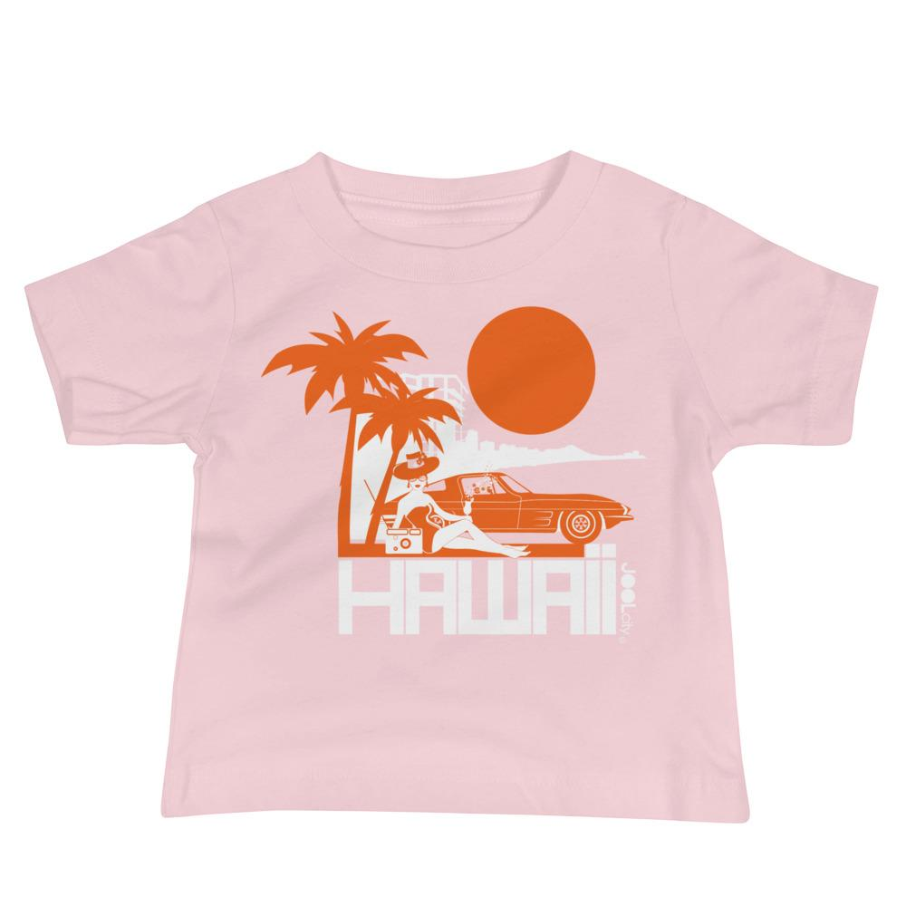 Hawaii Beach Bombshell Baby Jersey Short Sleeve Tee T-Shirts Pink / 18-24m designed by JOOLcity