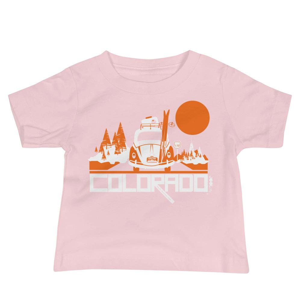 Colorado Ski Bug Baby Jersey Short Sleeve Tee T-Shirts Pink / 18-24m designed by JOOLcity