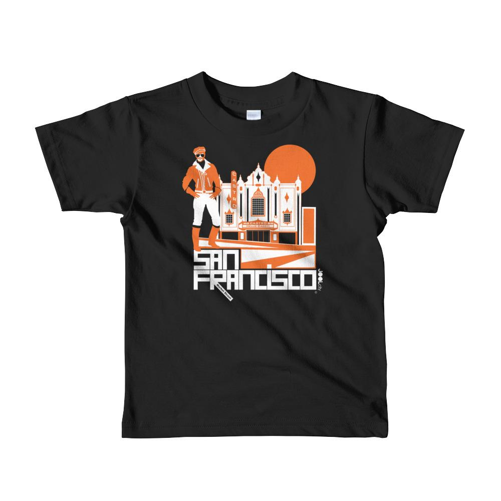 San Francisco Castro Daddy Short Sleeve Kids T-shirt T-Shirts Black / 6yrs designed by JOOLcity