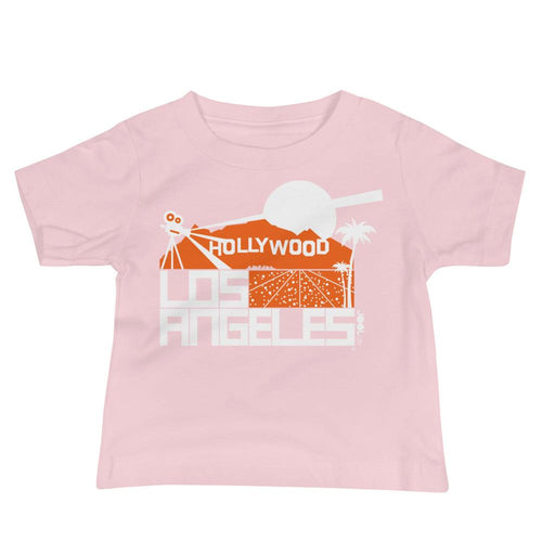 Los Angeles Hollywood Hills Baby Jersey Short Sleeve Tee T-Shirts Pink / 18-24m designed by JOOLcity