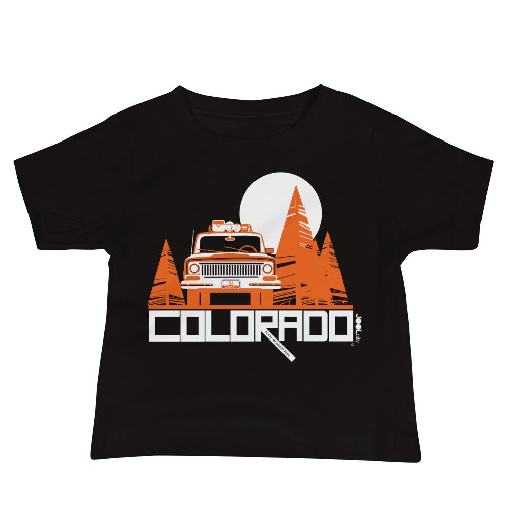 Colorado Wagon Wheel Baby Jersey Short Sleeve Tee T-Shirts Black / 18-24m designed by JOOLcity