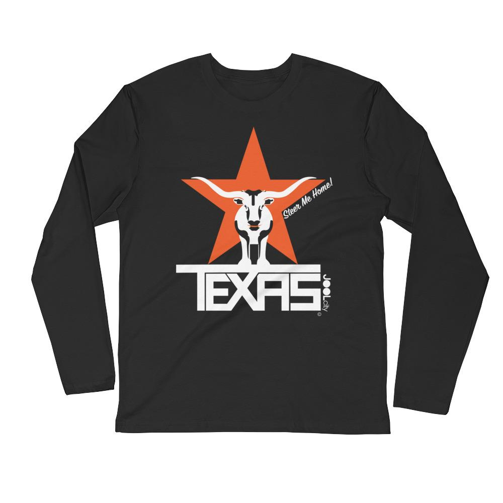 Texas Star & Steer Long Sleeve Fitted Crew