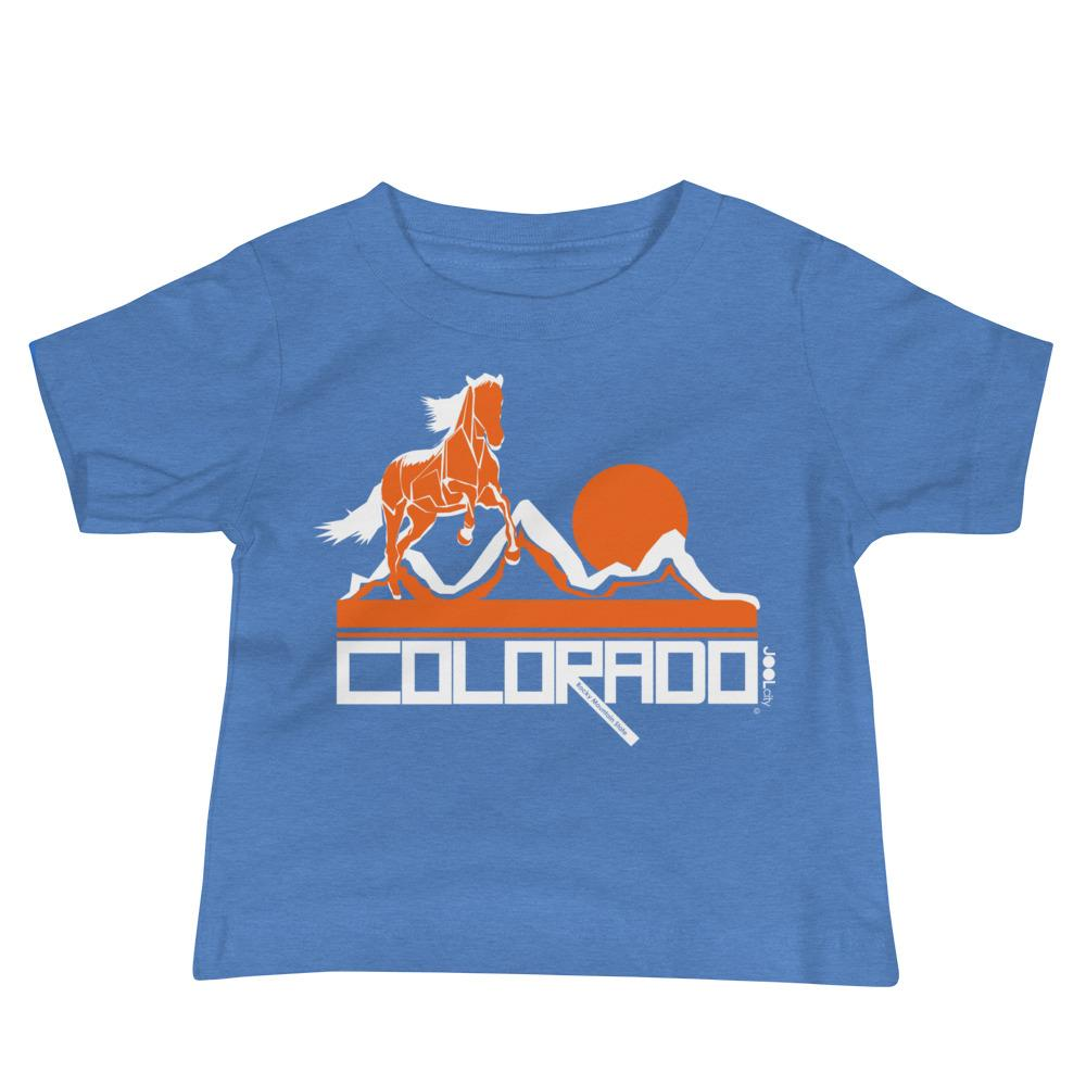 Colorado Hill Horse Baby Jersey Short Sleeve Tee T-Shirts Heather Columbia Blue / 18-24m designed by JOOLcity