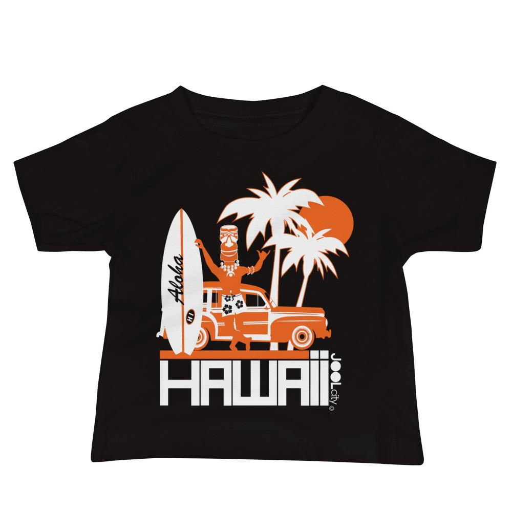 Hawaii Surfin Woody Baby Jersey Short Sleeve Tee T-Shirts Black / 18-24m designed by JOOLcity