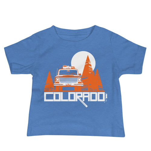Colorado Wagon Wheel Baby Jersey Short Sleeve Tee T-Shirts Heather Columbia Blue / 18-24m designed by JOOLcity