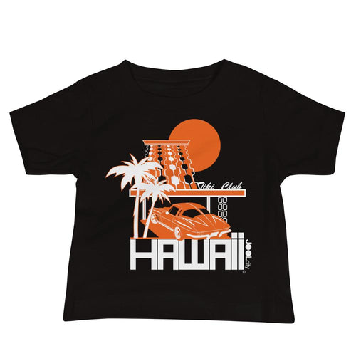 Hawaii Tiki Club Baby Jersey Short Sleeve Tee T-Shirts Black / 18-24m designed by JOOLcity