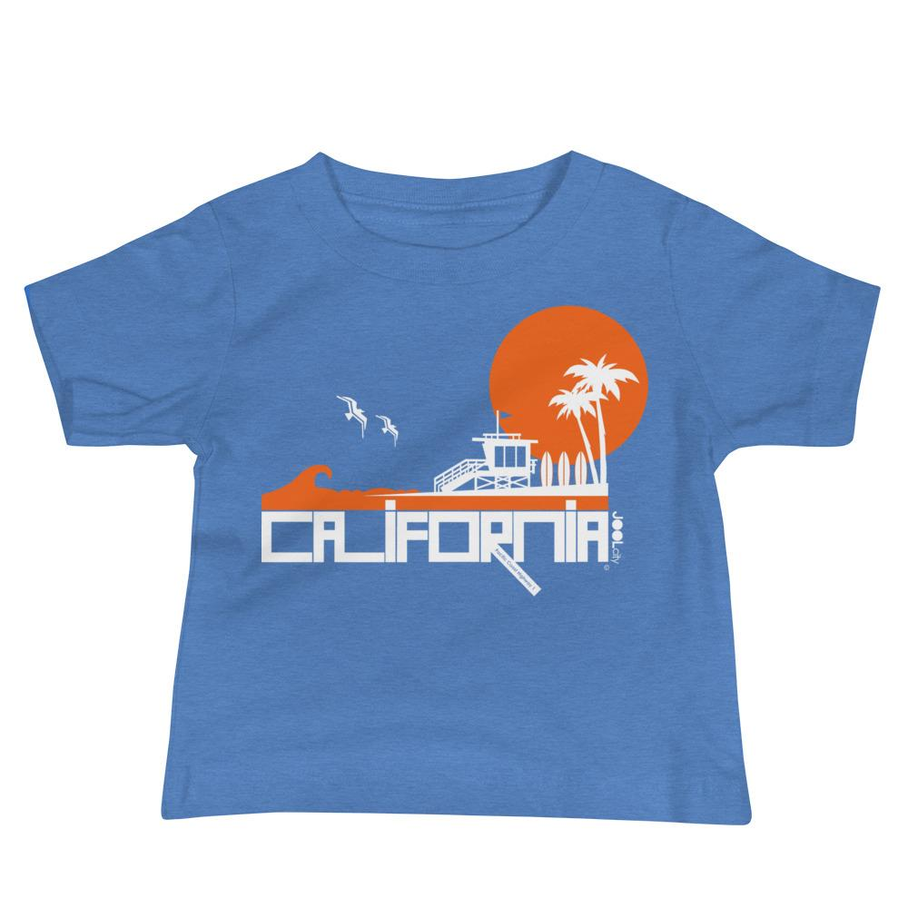 California Lifeguard Love Baby Jersey Short Sleeve Tee T-Shirts Heather Columbia Blue / 18-24m designed by JOOLcity