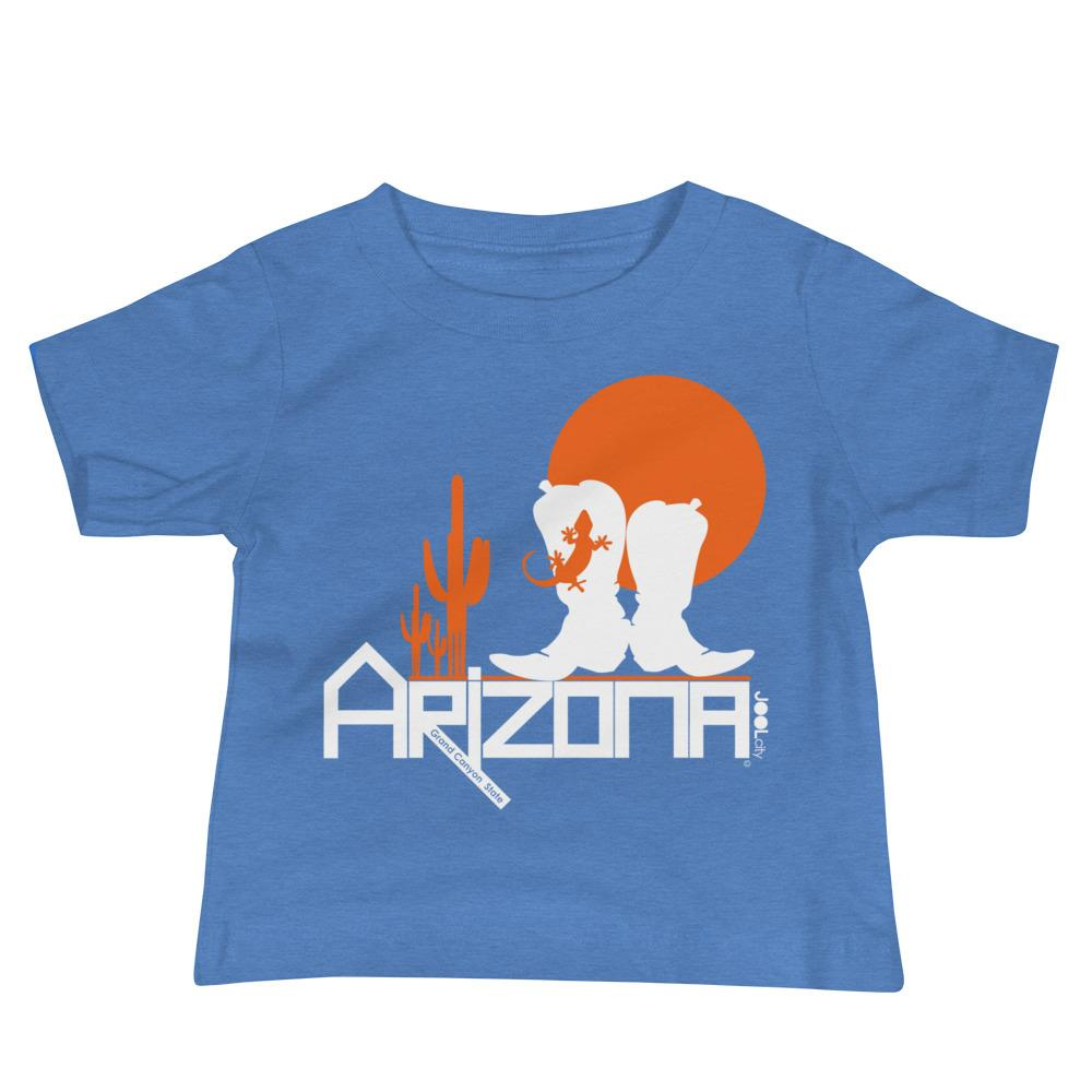 Arizona Desert Booties Baby Jersey Short Sleeve Tee T-Shirts Heather Columbia Blue / 18-24m designed by JOOLcity