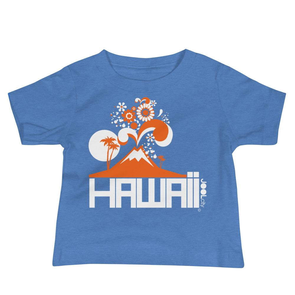 Hawaii Volcano Eruptous Baby Jersey Short Sleeve Tee T-Shirts Heather Columbia Blue / 18-24m designed by JOOLcity