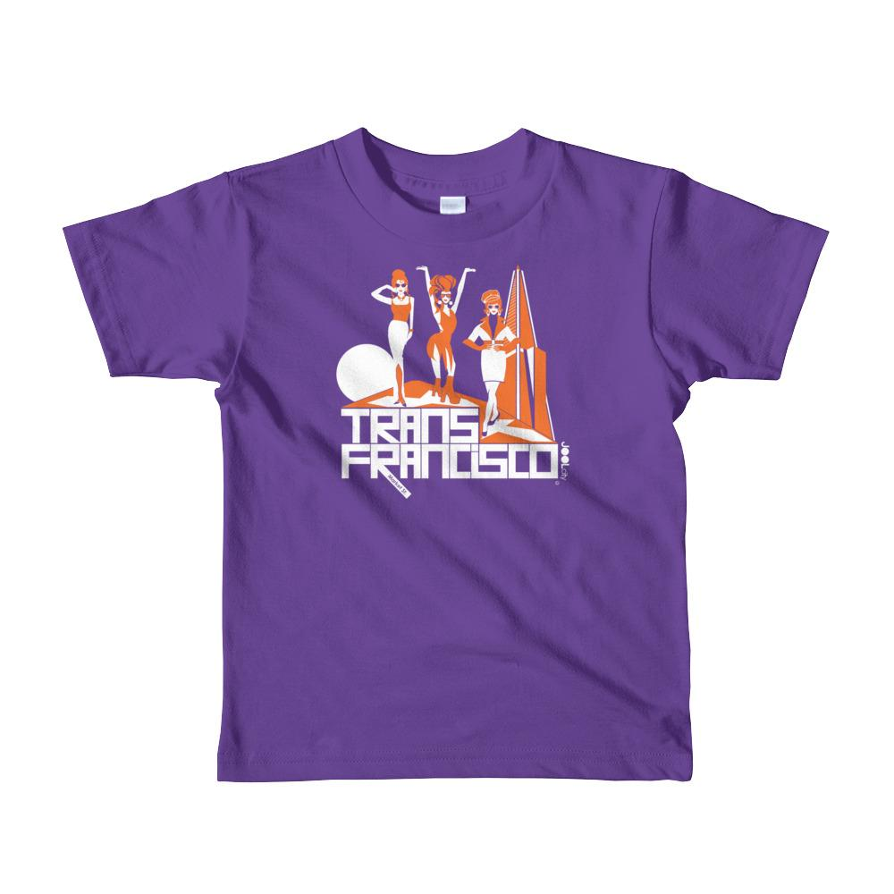 San Francisco Trans Town Short Sleeve Toddler T-shirt T-Shirts Purple / 6yrs designed by JOOLcity