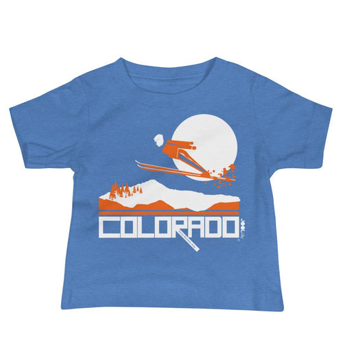 Colorado Flying High Baby Jersey Short Sleeve Tee T-Shirts Heather Columbia Blue / 18-24m designed by JOOLcity