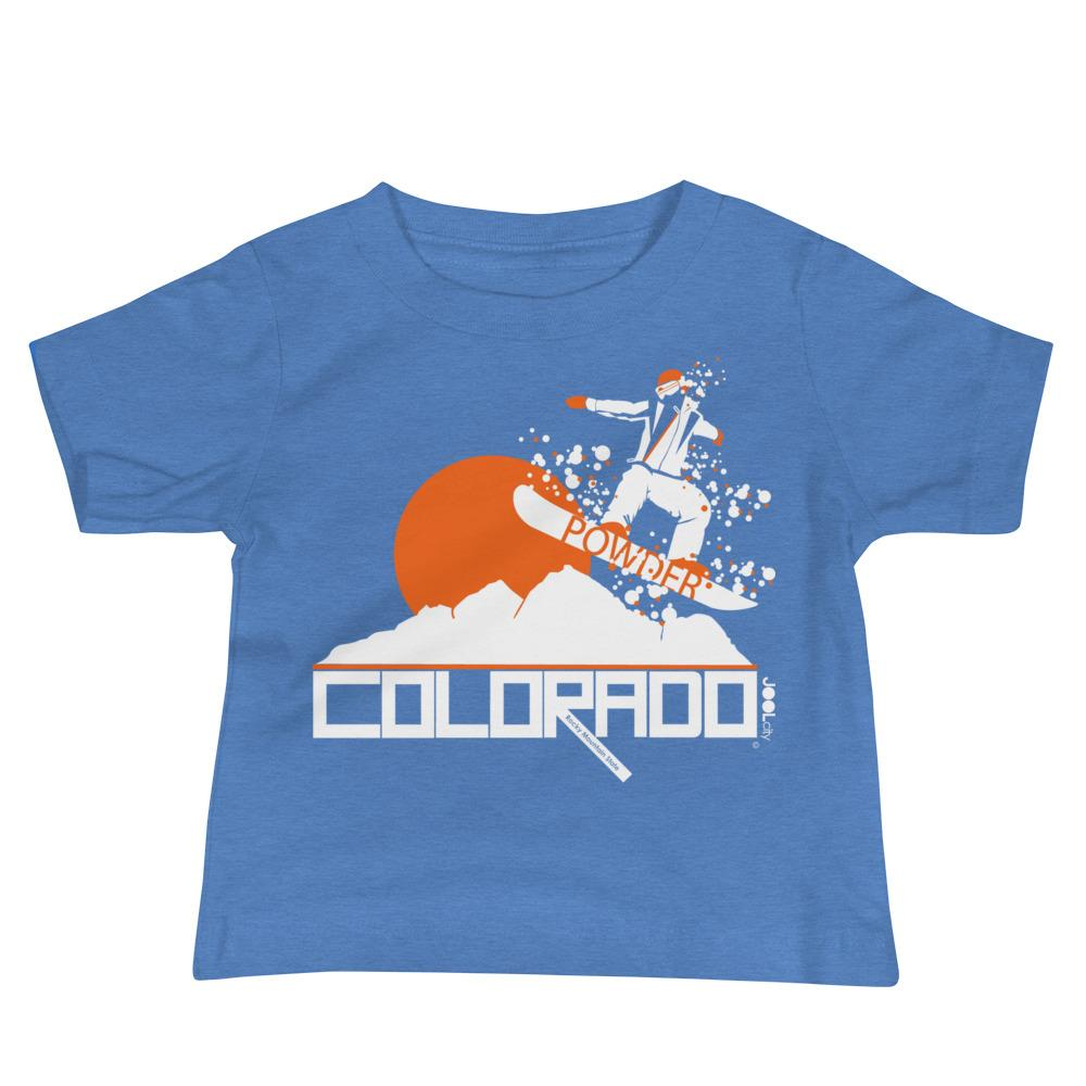 Colorado Shredding Baby Jersey Short Sleeve Tee T-Shirts Heather Columbia Blue / 18-24m designed by JOOLcity