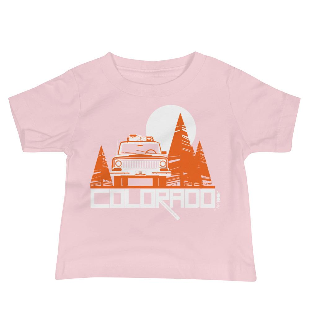 Colorado Wagon Wheel Baby Jersey Short Sleeve Tee T-Shirts Pink / 18-24m designed by JOOLcity