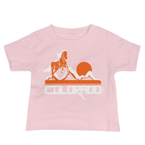 Colorado Hill Horse Baby Jersey Short Sleeve Tee T-Shirts Pink / 18-24m designed by JOOLcity