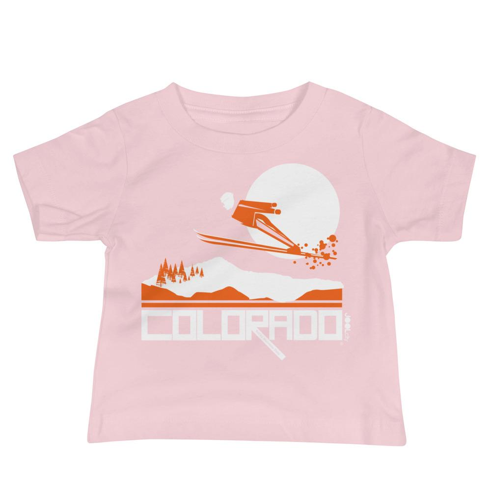Colorado Flying High Baby Jersey Short Sleeve Tee T-Shirts Pink / 18-24m designed by JOOLcity