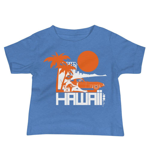 Hawaii Beach Bombshell Baby Jersey Short Sleeve Tee T-Shirts Heather Columbia Blue / 18-24m designed by JOOLcity
