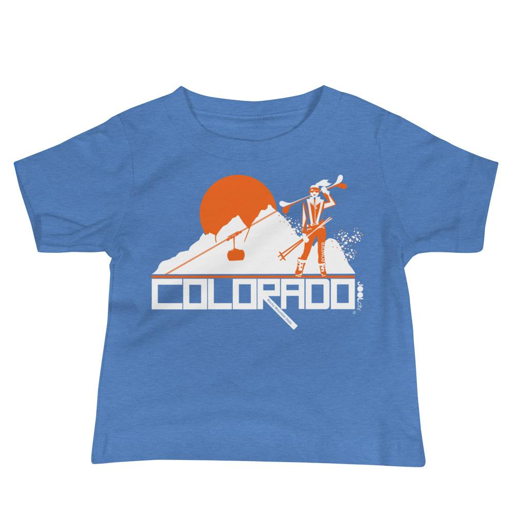 Colorado Apres Ski Baby Jersey Short Sleeve Tee T-Shirts Heather Columbia Blue / 18-24m designed by JOOLcity