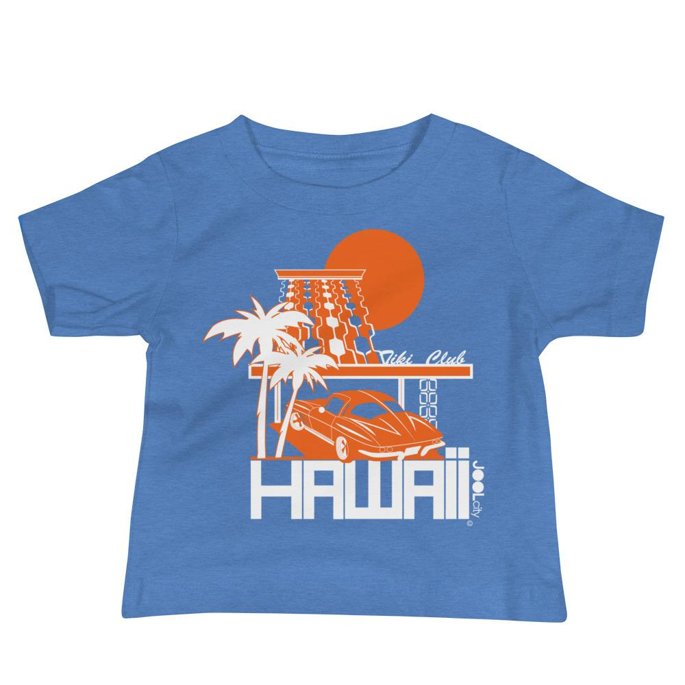 Hawaii Tiki Club Baby Jersey Short Sleeve Tee T-Shirts Heather Columbia Blue / 18-24m designed by JOOLcity