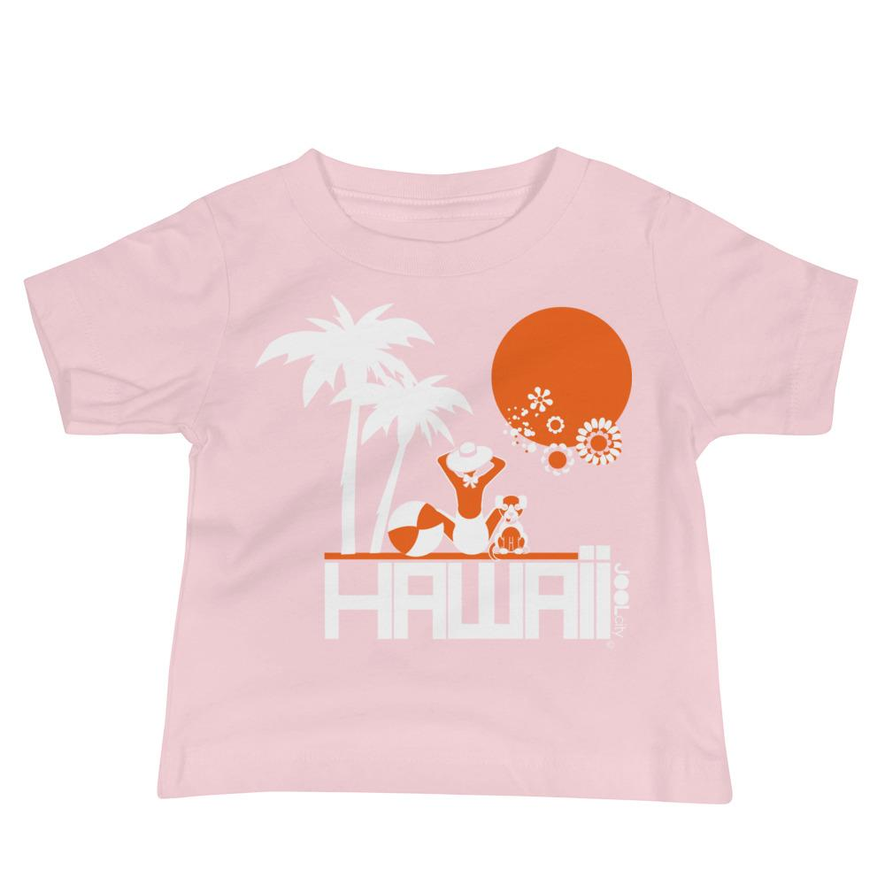 Hawaii Beach Love Baby Jersey Short Sleeve Tee T-Shirts Pink / 18-24m designed by JOOLcity