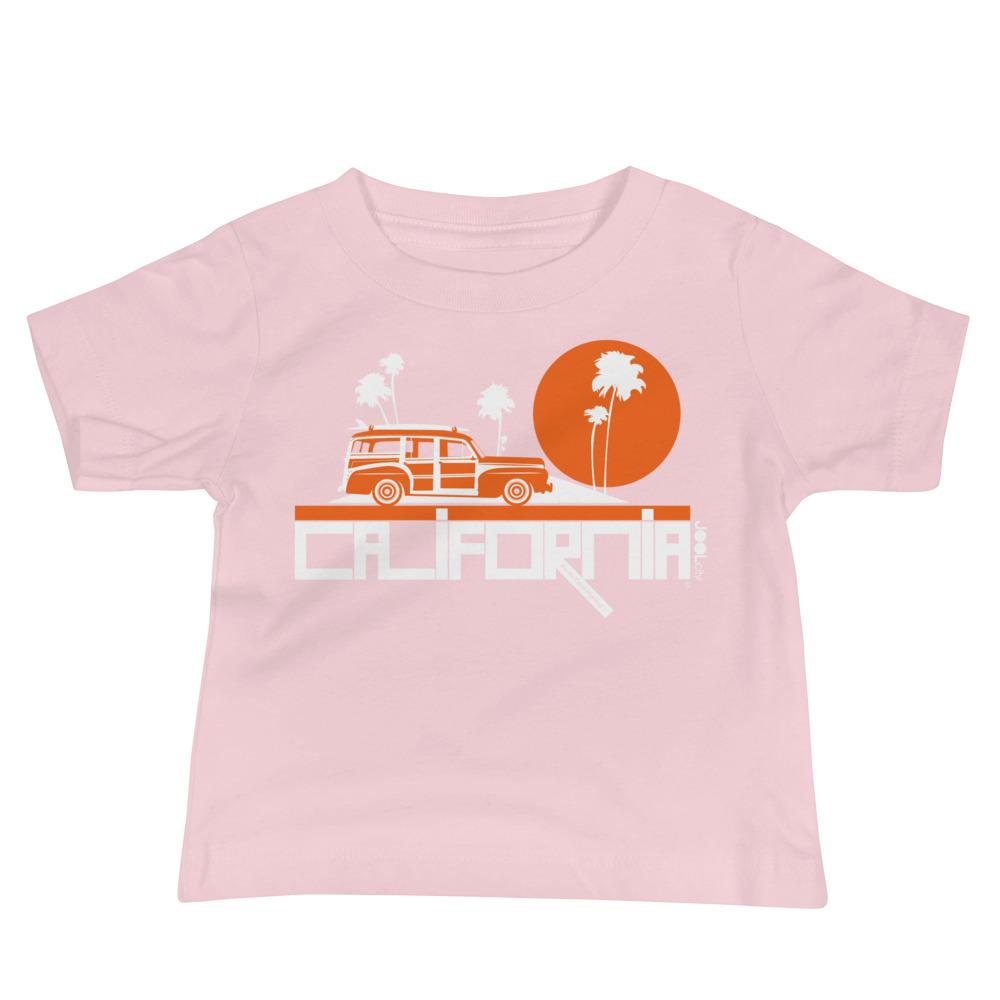 California Woody Wagon Baby Jersey Short Sleeve Tee T-Shirts Pink / 18-24m designed by JOOLcity