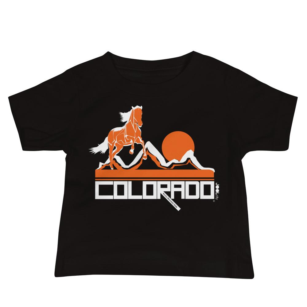Colorado Hill Horse Baby Jersey Short Sleeve Tee T-Shirts Black / 18-24m designed by JOOLcity