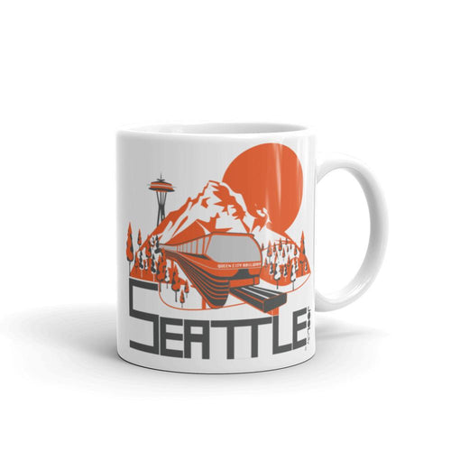 Seattle Mountain Monorail Mug  11oz designed by JOOLcity
