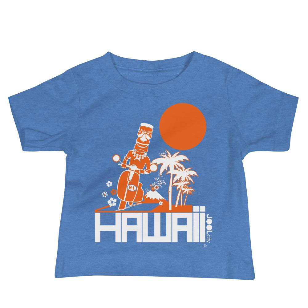 Hawaii Moped Madness Baby Jersey Short Sleeve Tee T-Shirts Heather Columbia Blue / 18-24m designed by JOOLcity