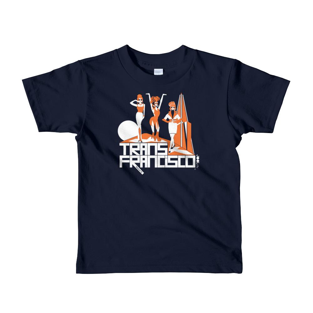 San Francisco Trans Town Short Sleeve Toddler T-shirt T-Shirts Navy / 6yrs designed by JOOLcity