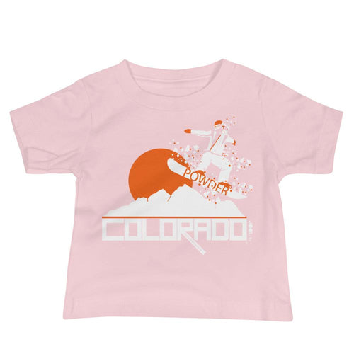 Colorado Shredding Baby Jersey Short Sleeve Tee T-Shirts Pink / 18-24m designed by JOOLcity