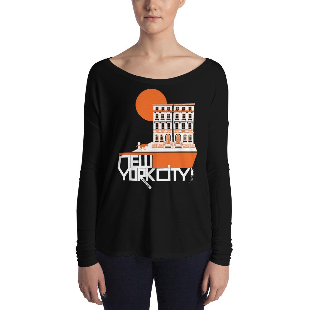 New York Brownstone Doggy Ladies' Long Sleeve Tee