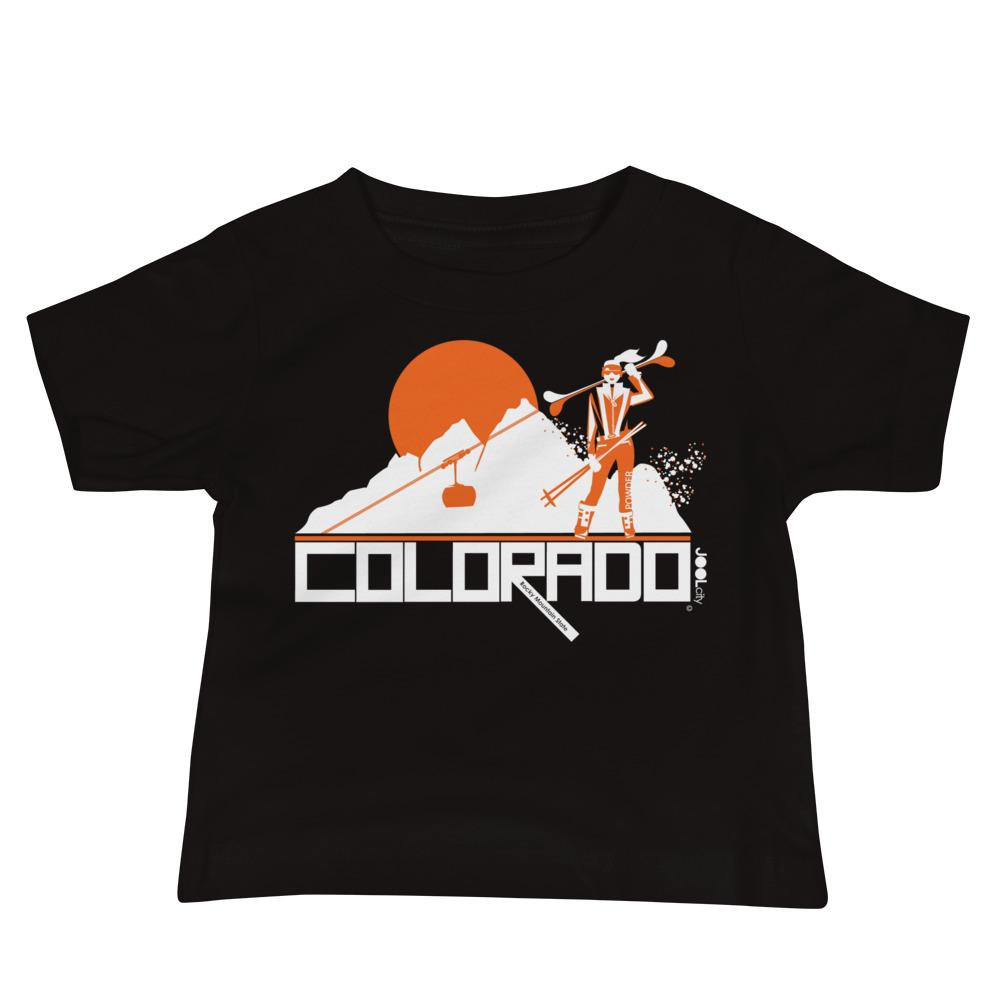 Colorado Apres Ski Baby Jersey Short Sleeve Tee T-Shirts Black / 18-24m designed by JOOLcity