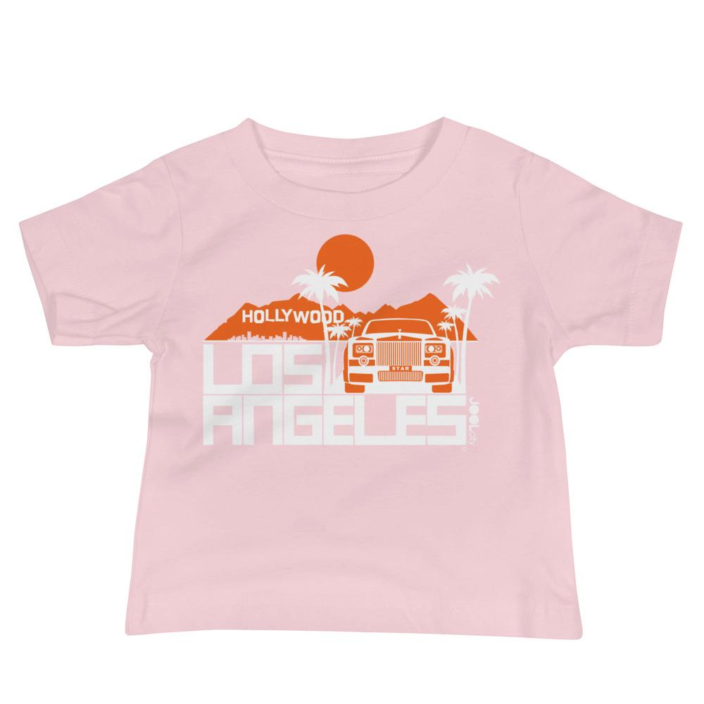 Los Angeles Hollywood Star Baby Jersey Short Sleeve Tee T-Shirts Pink / 18-24m designed by JOOLcity