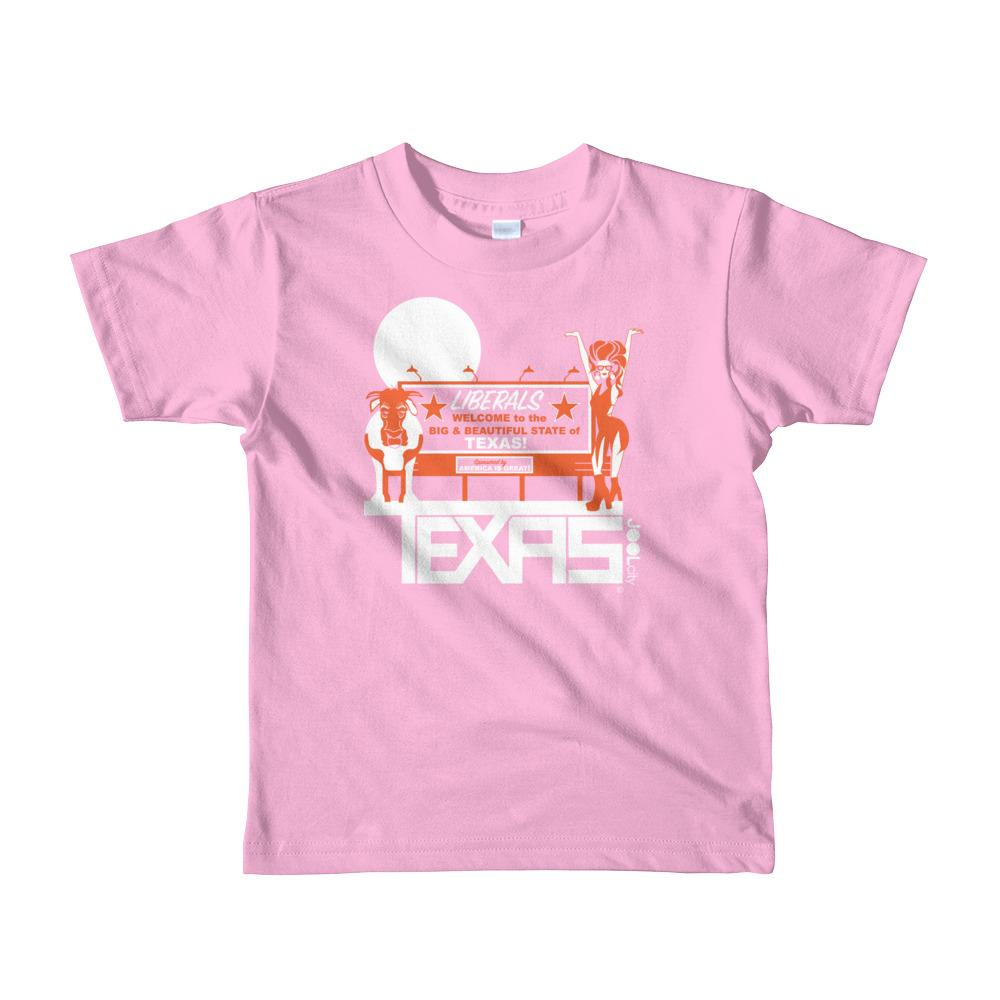 Texas Liberal Love Short Sleeve Toddler T-shirt T-Shirts Pink / 6yrs designed by JOOLcity