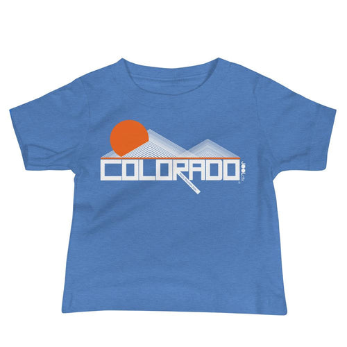 Colorado Mod Mountain Baby Jersey Short Sleeve Tee T-Shirts Heather Columbia Blue / 18-24m designed by JOOLcity