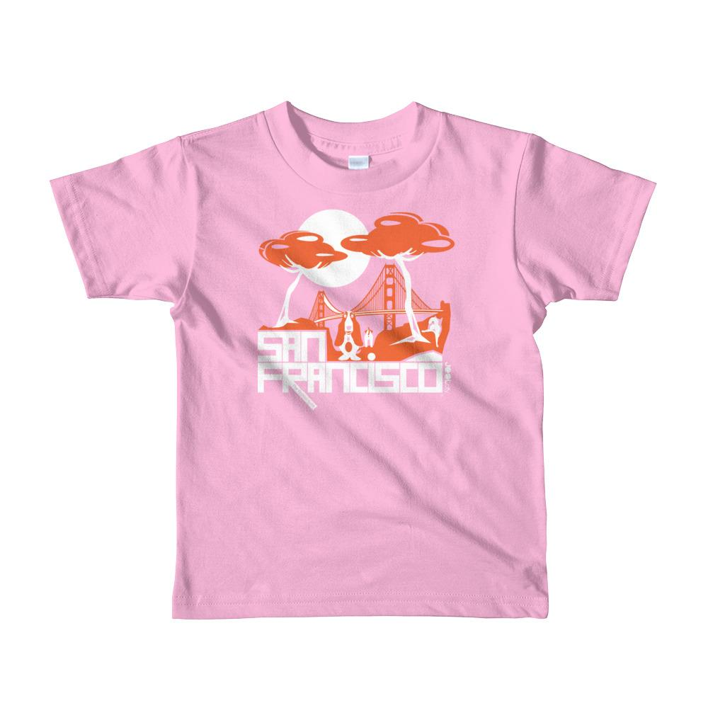 San Francisco Puppy Gate Short Sleeve Toddler T-shirt T-Shirts Pink / 6yrs designed by JOOLcity