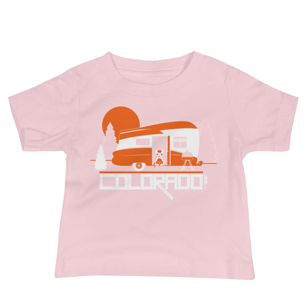 Colorado Camping Pupster Baby Jersey Short Sleeve Tee T-Shirts Pink / 18-24m designed by JOOLcity