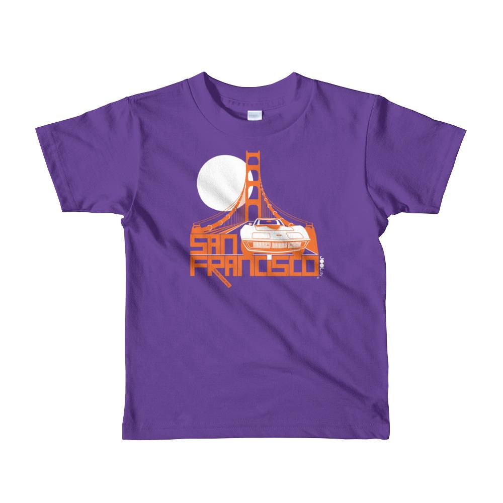 San Francisco Gate Away Short Sleeve Toddler T-shirt T-Shirts Purple / 6yrs designed by JOOLcity