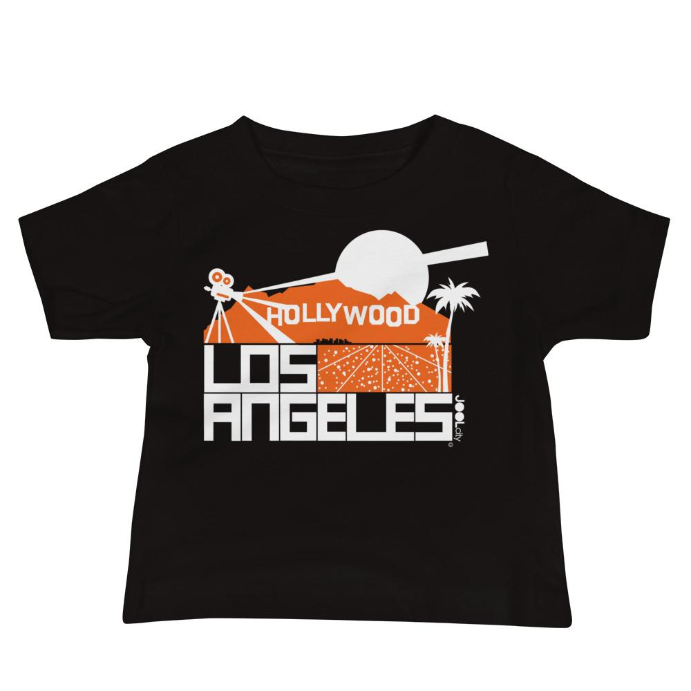 Los Angeles Hollywood Hills Baby Jersey Short Sleeve Tee T-Shirts Black / 18-24m designed by JOOLcity