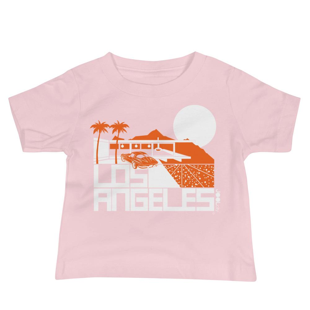 Los Angeles Cliff House Baby Jersey Short Sleeve Tee T-Shirts Pink / 18-24m designed by JOOLcity