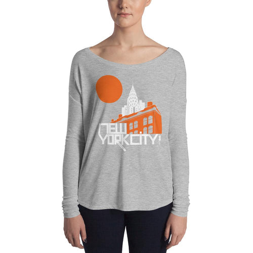 New York Gotham Deco Ladies' Long Sleeve Tee
