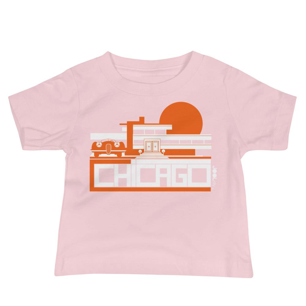 Chicago Mod Prairie Baby Jersey Short Sleeve Tee T-Shirts Pink / 18-24m designed by JOOLcity