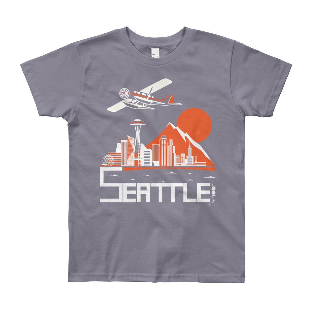 Seattle Soaring Sea Plane Youth Short Sleeve T-Shirt