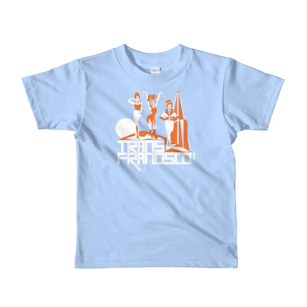 San Francisco Trans Town Short Sleeve Toddler T-shirt T-Shirts Baby Blue / 6yrs designed by JOOLcity