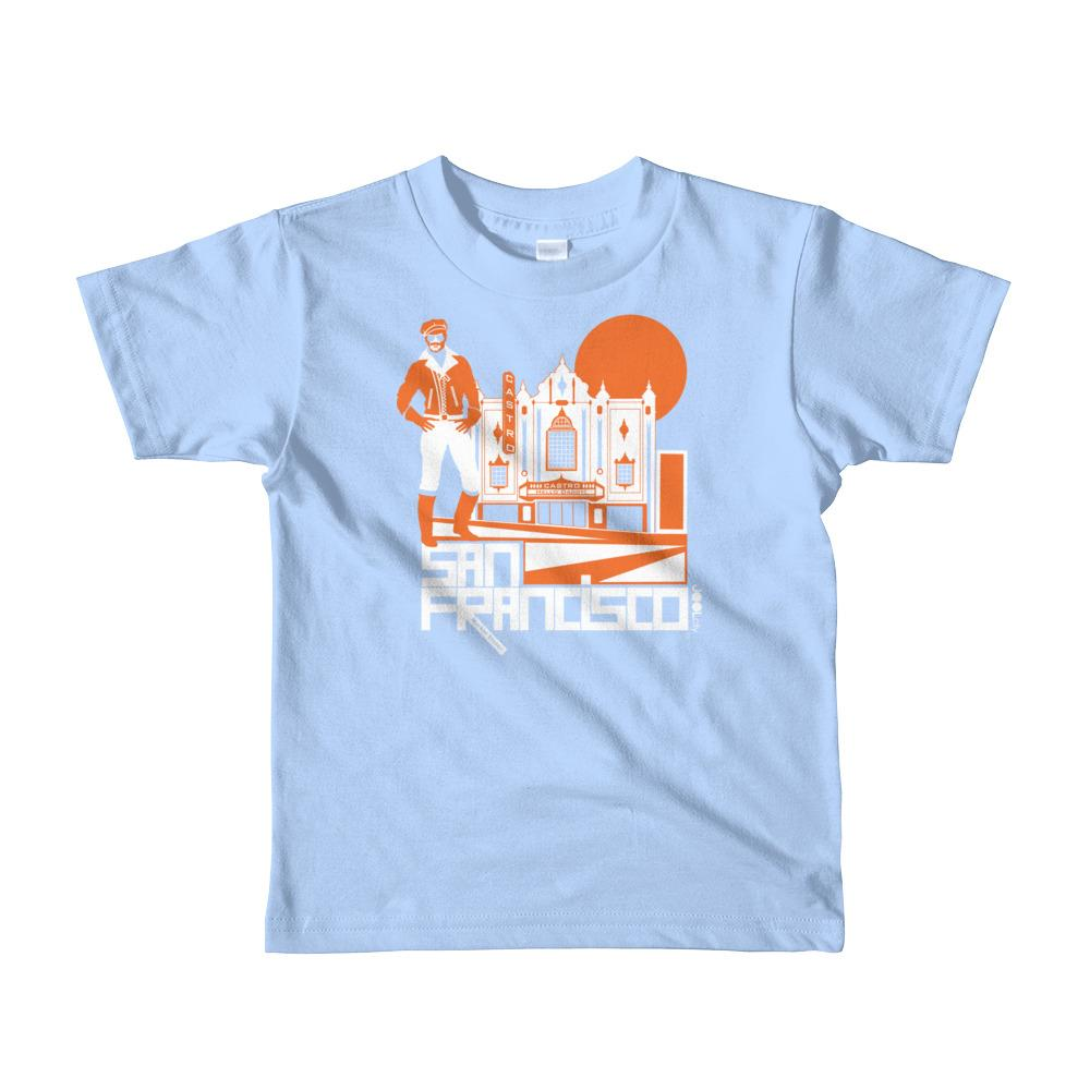 San Francisco Castro Daddy Short Sleeve Kids T-shirt T-Shirts Baby Blue / 6yrs designed by JOOLcity