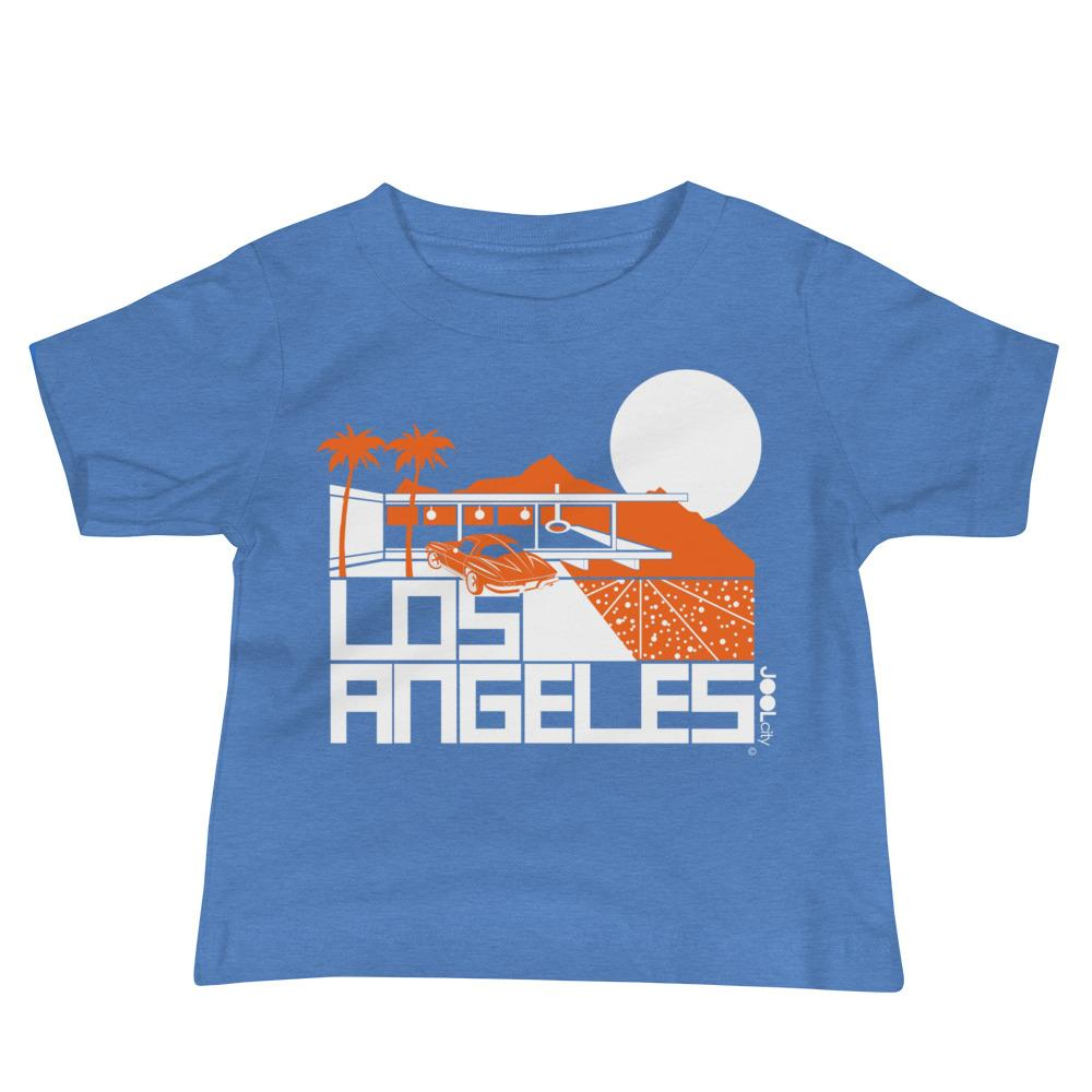 Los Angeles Cliff House Baby Jersey Short Sleeve Tee T-Shirts Heather Columbia Blue / 18-24m designed by JOOLcity