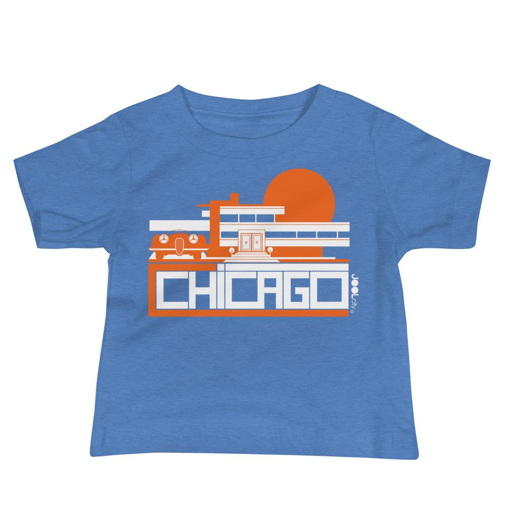 Chicago Mod Prairie Baby Jersey Short Sleeve Tee T-Shirts Heather Columbia Blue / 18-24m designed by JOOLcity