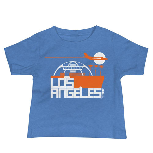 Los Angeles Flight Time Baby Jersey Short Sleeve Tee T-Shirts Heather Columbia Blue / 18-24m designed by JOOLcity