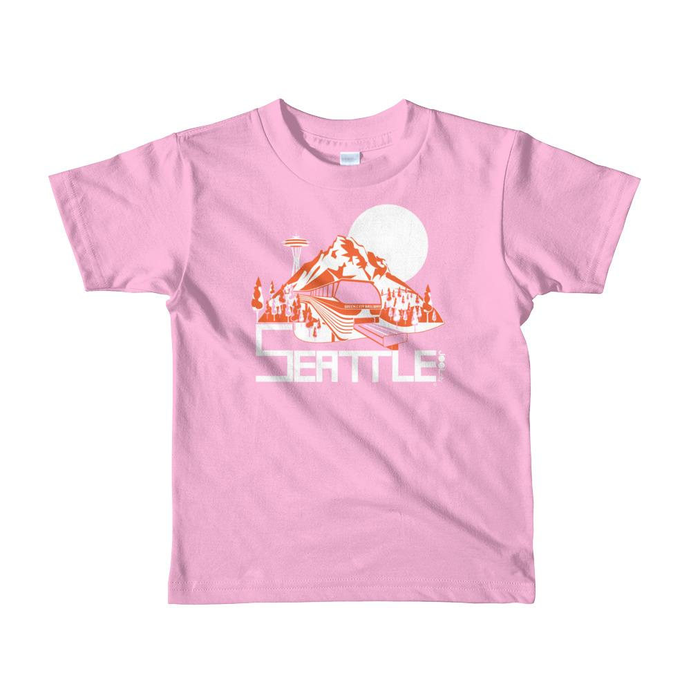 Seattle Mountain Monorail Short Sleeve Toddler T-shirt T-Shirts Pink / 6yrs designed by JOOLcity