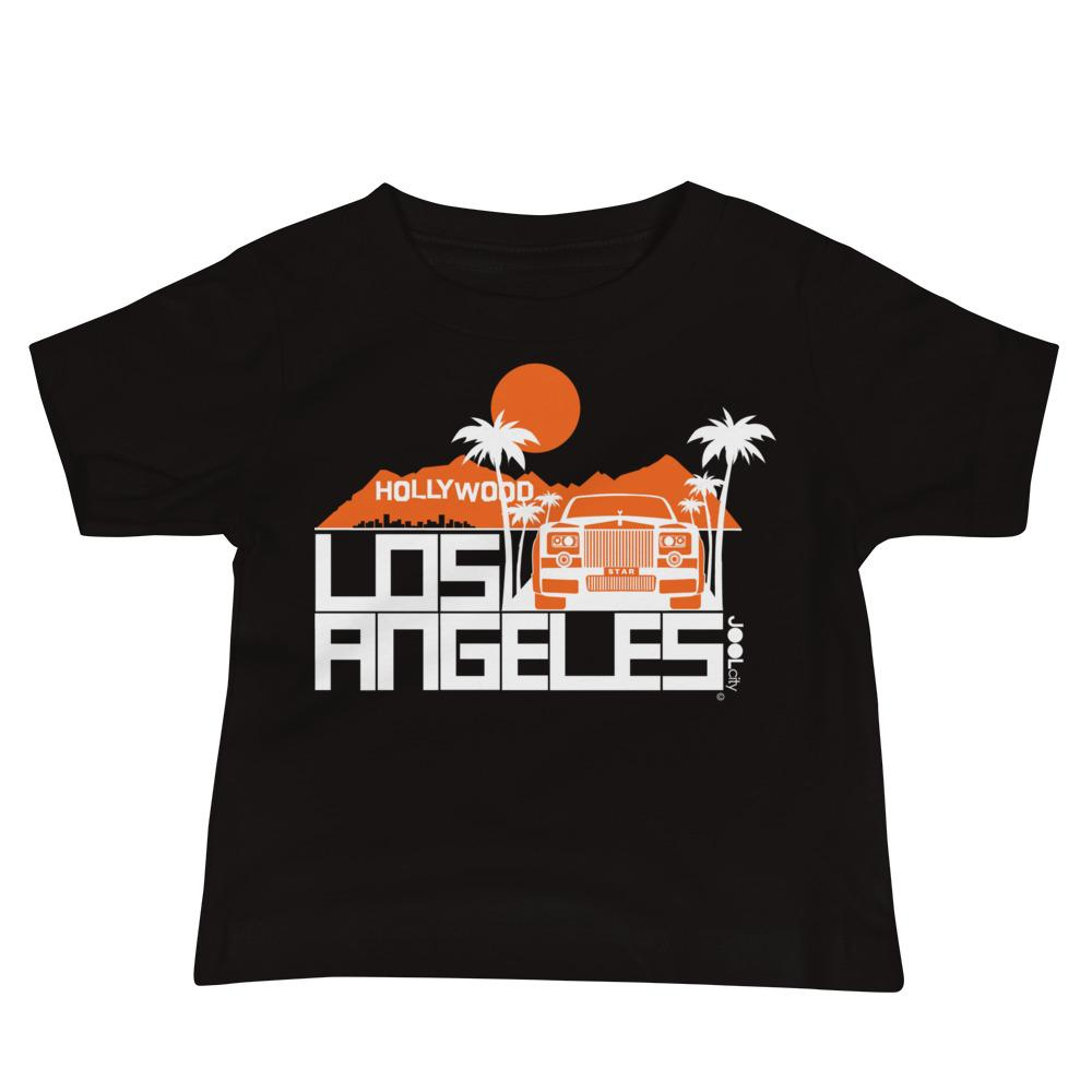 Los Angeles Hollywood Star Baby Jersey Short Sleeve Tee T-Shirts Black / 18-24m designed by JOOLcity
